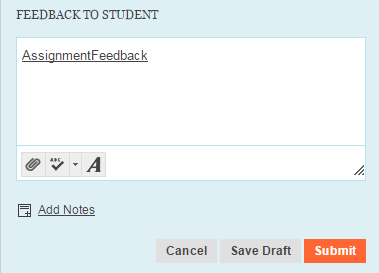 Adding a feedback file