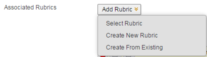 Associating an existing rubric with an assignment