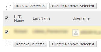Removing users from the sign-up list