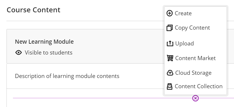Add content to learning module