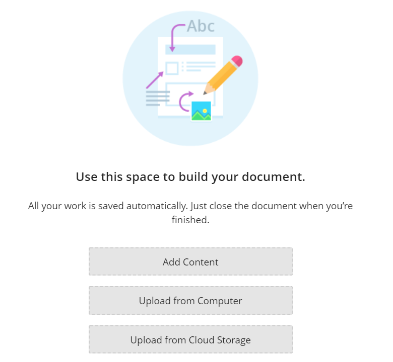 Adding Content to a Document