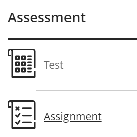 Assignment option button