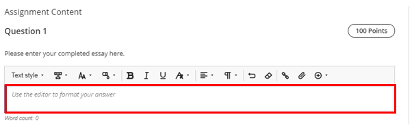 Add content to text editor