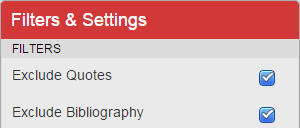 Filters and Settings 2